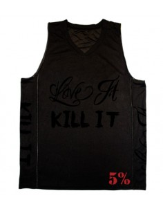 LOVE IT KILL IT MENS 5% BASKETBALL STYLE JERSEY