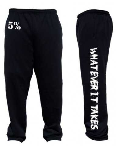 WHATEVER IT TAKES BLACK AND WHITE SWEATPANTS
