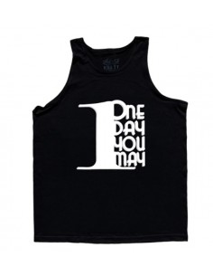 1DAYUMAY MEN'S TANK BLACK WITH WHITE