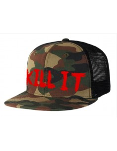 KILL IT - HAT CAMO WITH RED SNAPBACK