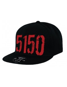 5150 - HAT BLACK WITH RED