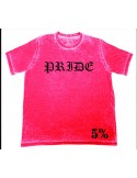 PRIDE T-SHIRT ACID WASH RED