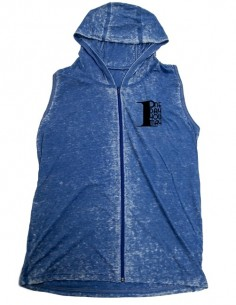 MUSCLE HOODIE ACID WASH BLUE