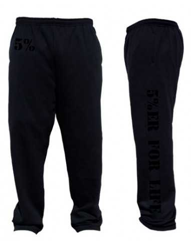 5%ER FOR LIFE BLACKED OUT SWEATPANTS