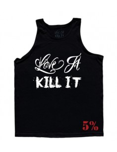 LOVE IT KILL IT - 5% - MEN'S TANK TOP BLACK WITH WHITE