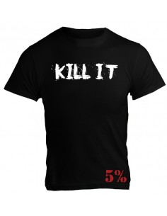 KILL IT - 5% - T-SHIRT BLACK WITH WHITE