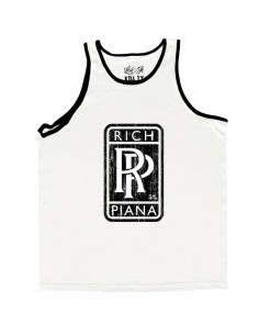 ROLLS RICH MEN'S TANK TOP WHITE WITH BLACK
