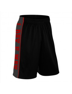 ONE DAY YOU MAY BLACK SHORTS WITH RED
