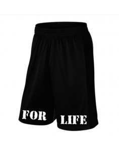 5% FOR LIFE BLACK SHORTS