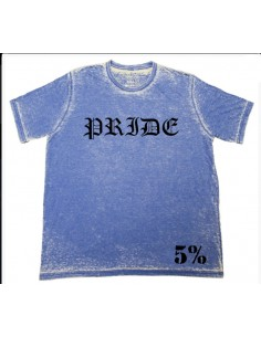 PRIDE T-SHIRT ACID WASH BLUE